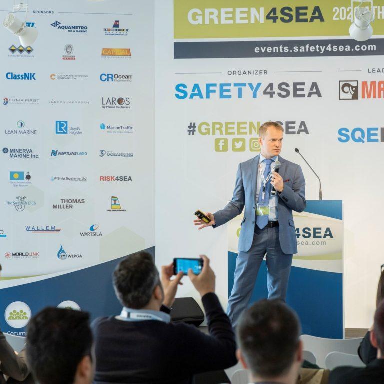 Lean Marine's CEO Mikael Laurin presenting at Green4Sea 2020