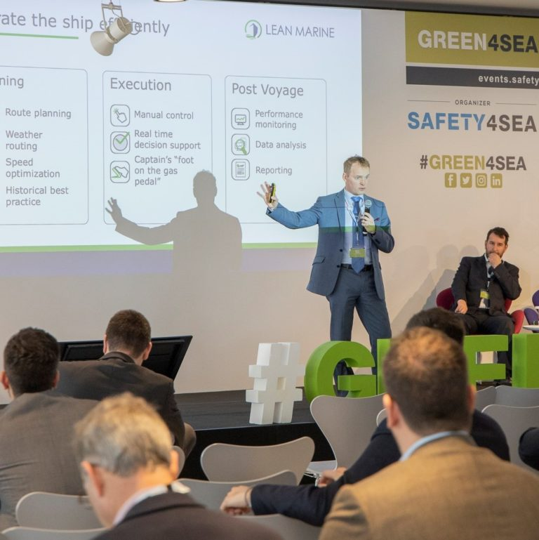 Lean Marine's CEO Mikael Laurin presenting at Green4Sea 2020