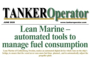Tanker Operator - June 2021 - Lean Marine - automated tools to manage fuel consumption